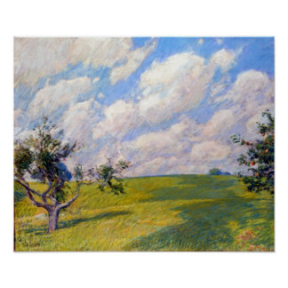 Childe Hassam September Wolken Poster