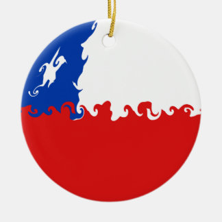 Chile-Gnarly Flagge Rundes Keramik Ornament