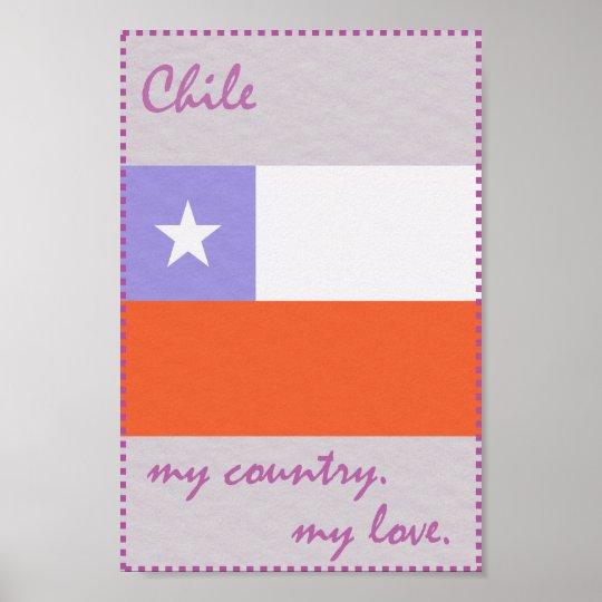 Chile mein Land meine Liebe Poster