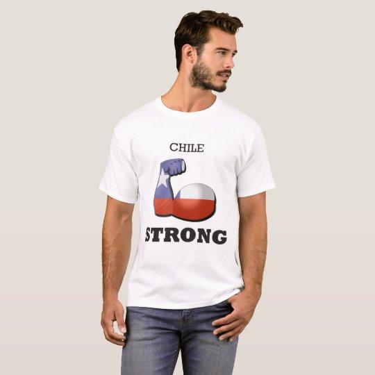 Chile-starke Muskel-Flagge T-Shirt