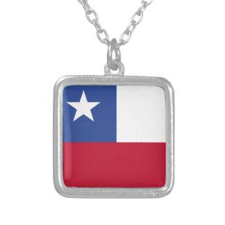 Chileflagge Versilberte Kette