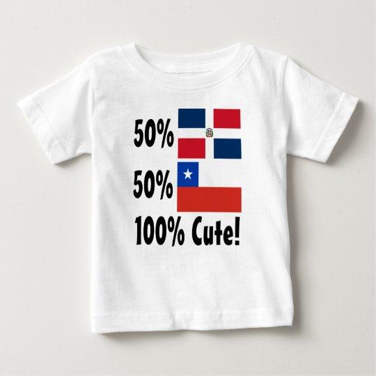Chilene 100% 50% Dominikaner-50% niedlich Baby T-shirt