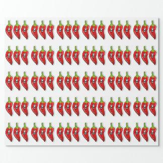 Chili-Lächeln-*Glossy Verpackungs-Papier Geschenkpapier