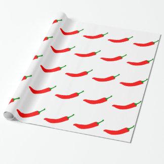 Chili-Pfeffer Geschenkpapierrolle