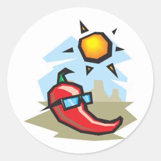 chillin Chilipfeffer Runder Aufkleber