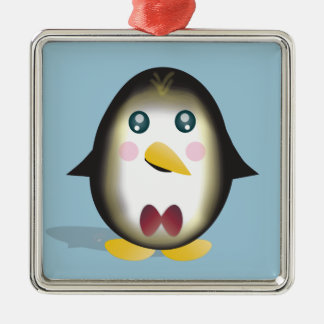 Chillin Pinguin Silbernes Ornament