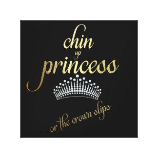 Chin herauf Prinzessin oder die Kronen-Belege Leinwanddruck