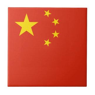 China-Flagge Fliese