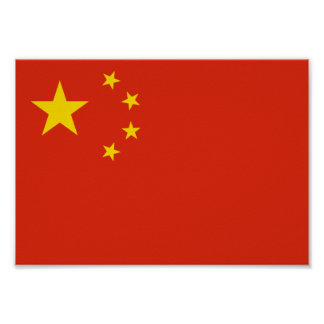 China-Flagge Poster