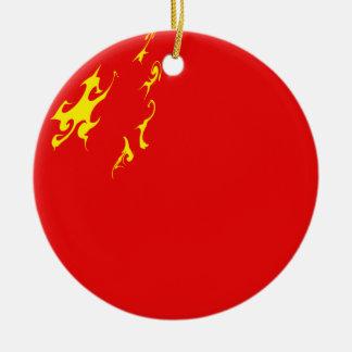 China-Gnarly Flagge Rundes Keramik Ornament