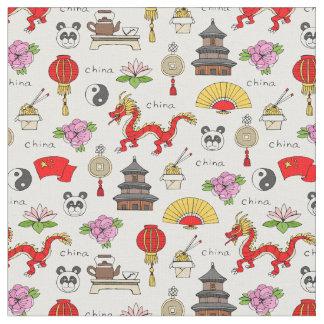 China-Symbol-Muster Stoff