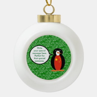 China-Volksrepublik-FeiertagPenguin Keramik Kugel-Ornament