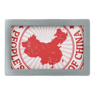 Chinakarte Rechteckige Gürtelschnalle
