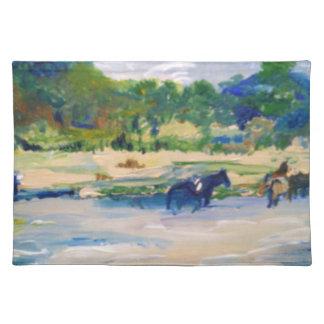 Chincoteague Ponys, die #1 malen Stofftischset