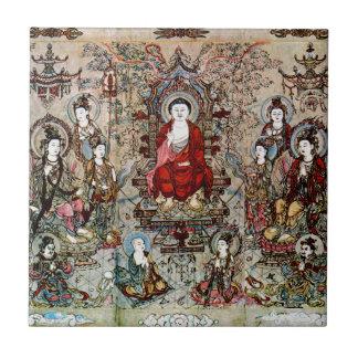 CHINESE-BUDDHA-MALEREI FLIESE