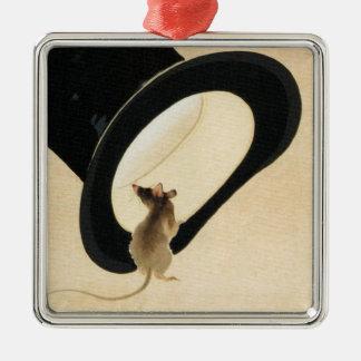 Chinese-Tierkreis-Verzierung des Ratten-Jahr-2020 Silbernes Ornament
