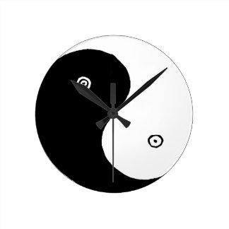 Chinese Yin Yang Symbol Runde Wanduhr