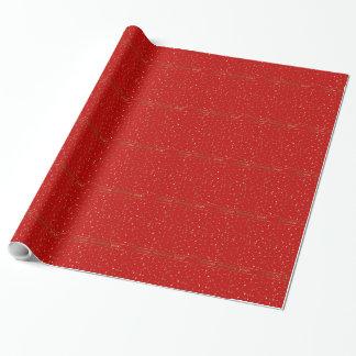 Chinesische Affe-Jahr-goldene Stern-rotes Geschenkpapier