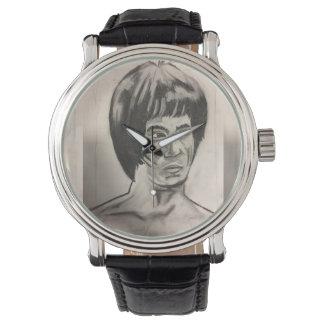 Chinesische Boxer-Kunst-Skizze Uhr