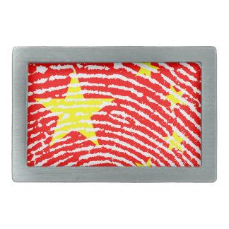 Chinesische Fingerabdruckflagge Rechteckige Gürtelschnalle