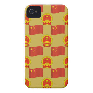 Chinesische Flagge und nationales Emblem iPhone 4 Cover