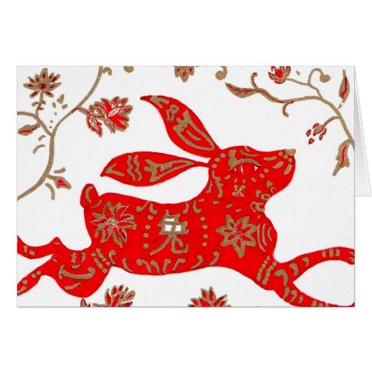 Chinesische Kaninchen-Astrologie-Karte Karte
