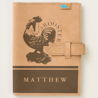 Chinese Rooster New Year 2017 Name Leather Journal