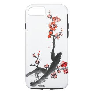 Chinesische Malerei der Blumen, Pflaumenblüte iPhone 8/7 Hülle