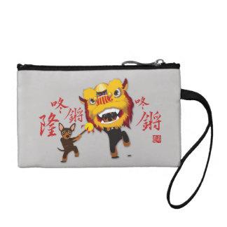 Chinesische neues Jahr-Löwe-Tanz-minimale Münzbörse