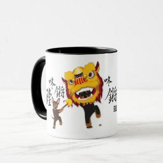 Chinesische neues Jahr-Löwe-Tanz-minimale Tasse