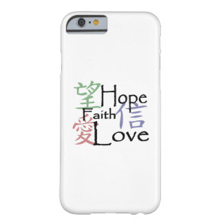 Chinesische Symbole für Liebe, Hoffnung und Barely There iPhone 6 Hülle