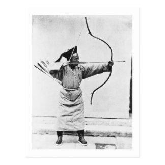 Chinesischer Bogenschütze, c.1870 (b/w Foto) Postkarte
