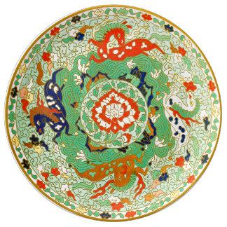 Chinesischer dekorativer Entwurf Porzellanteller