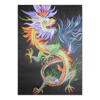 Chinesischer Drache 12,7 X 17,8 Cm Einladungskarte