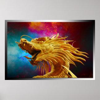 chinesischer Drache im Universumplakat Poster