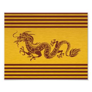 Chinesischer Mythologie-Drache, Streifen - rotes Fotografien