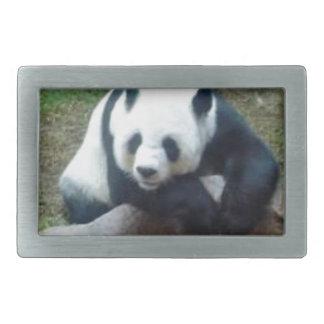 Chinesischer Panda-Bär Rechteckige Gürtelschnalle