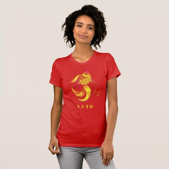 Chinesischer Reichtum des neuen Jahres u. T-Shirt