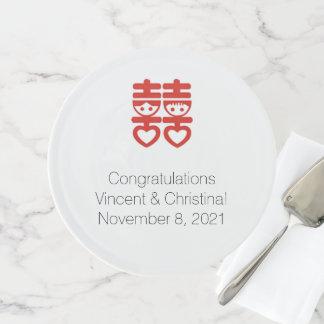 Chinesischer Verlobungs-Kuchen-Stand Tortenplatte