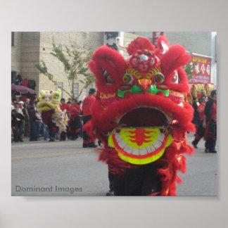 Chinesisches Drache-Plakat Poster