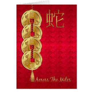 Chinesisches Jahr der Schlange über den Meilen Karte