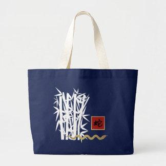 Chinesisches Jahr der Schlangen-Geschenk-Tasche Jumbo Stoffbeutel