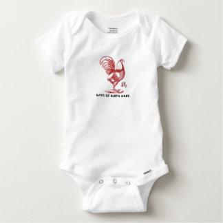 Chinesisches Jahr des Feuer-Hahns Baby Strampler