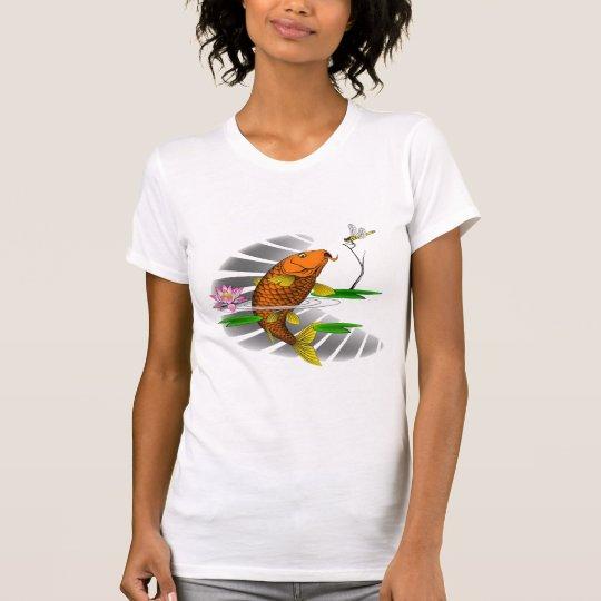 Chinesisches Karpfen-Tätowierungs-Bild-Shirt T-Shirt
