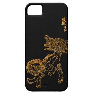 Chinesisches Löwe shishi Etui Fürs iPhone 5
