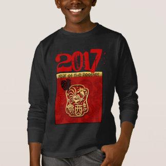 Chinesisches neues Jahr der Gewohnheits-2017 des T-Shirt