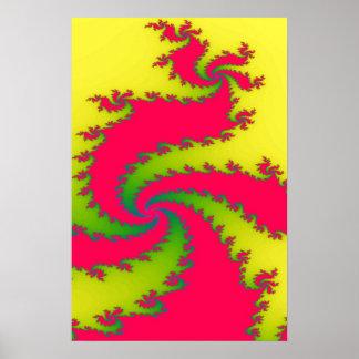 Chinesisches neues Jahr-Drache-Fraktal-Plakat Poster