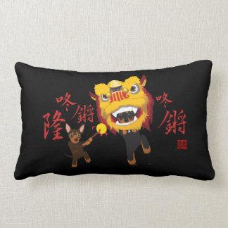 Chinesisches neues Jahr-Löwe-Tanz-minimales Lendenkissen