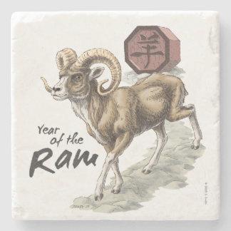 Chinesisches Tierkreis-Jahr der RAM-Kunst Steinuntersetzer