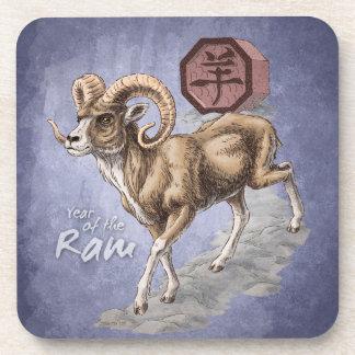Chinesisches Tierkreis-Jahr der RAM-Kunst Untersetzer